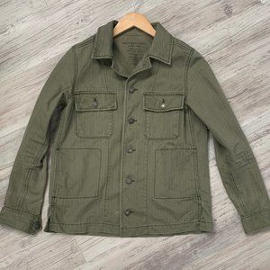 American Eagle Button Olive Utility Jacket Sz XS